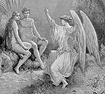 Arch Angel Raphael speaking to Adam & Eve